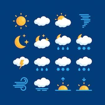 Ilustración simple del clima en estilo plano