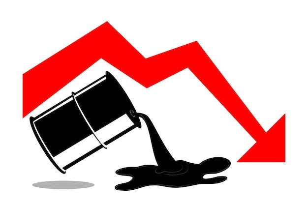 Ilustración simple para la crisis mundial del petróleo