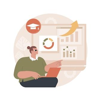 Ilustración del sistema de gestión de aprendizaje