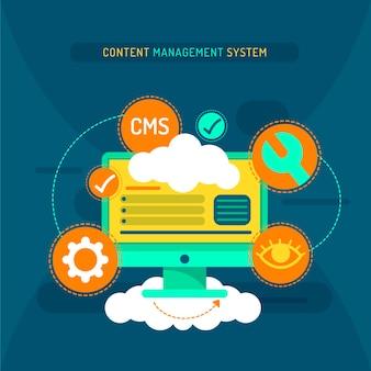 Ilustración del sistema de gestión de contenido