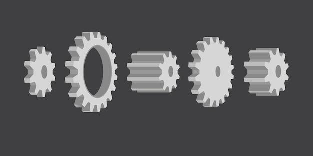 Ilustración del sistema de ruedas dentadas
