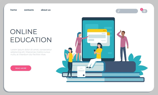 Ilustración de sitio web de educación accesible