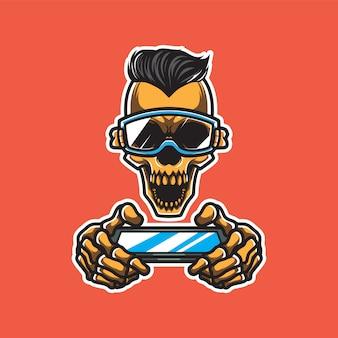 Ilustración de skull gamers