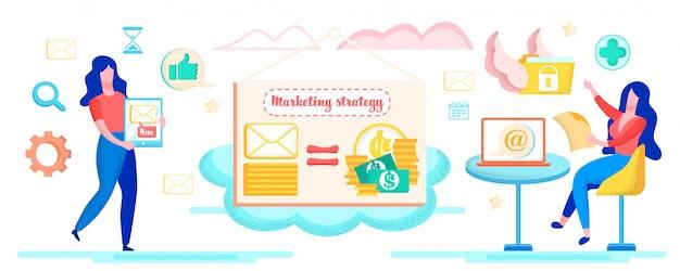Ilustración sobre la estrategia de marketing.