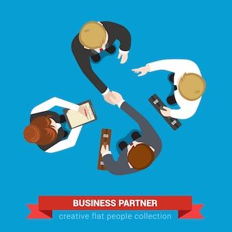 Ilustración de socios comerciales