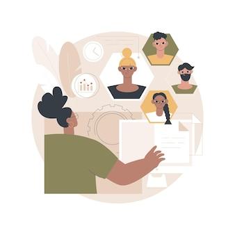 Ilustración de software de recursos humanos