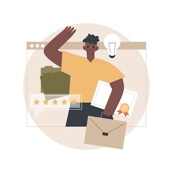 Ilustración de solicitantes de empleo