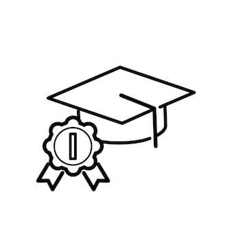 Ilustración de sombrero de graduación