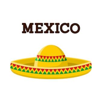 Ilustración de sombrero mexicano