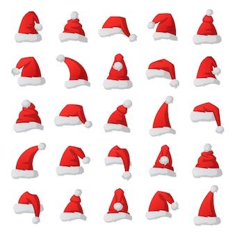Ilustración de sombrero de santa navidad.