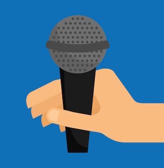 Ilustración de sonido de micrófono