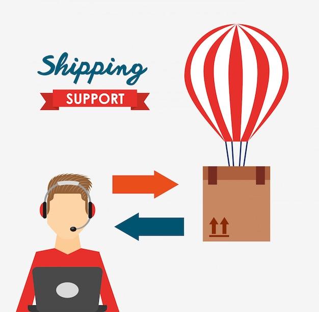 Ilustración de soporte de envío