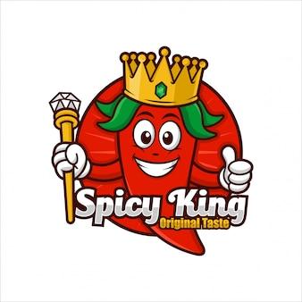 Ilustración de spicy king logo design