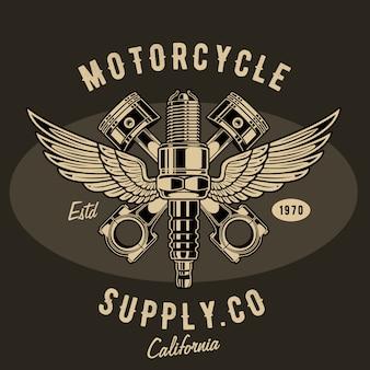 Ilustración de suministro de motocicleta