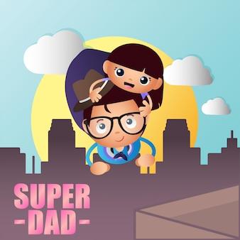 Ilustración de super papá