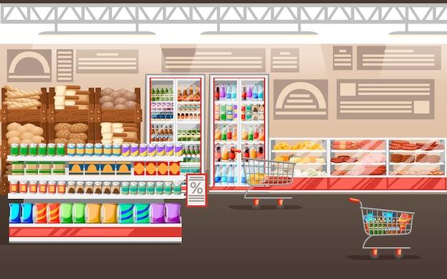 Ilustración de supermercado