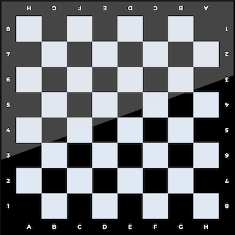 Ilustración de tablero de ajedrez