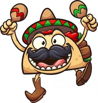 Ilustración de taco mexicano