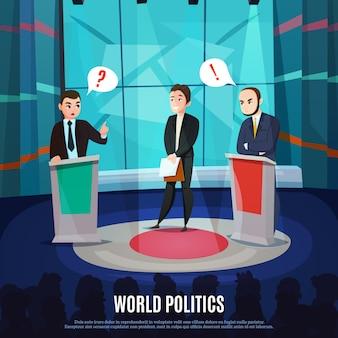 Ilustración de talk show