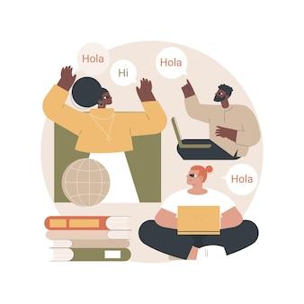 Ilustración de taller de lengua extranjera