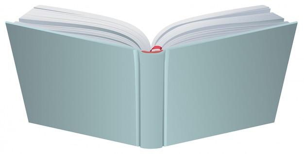 Ilustración de tapa dura de libro abierto