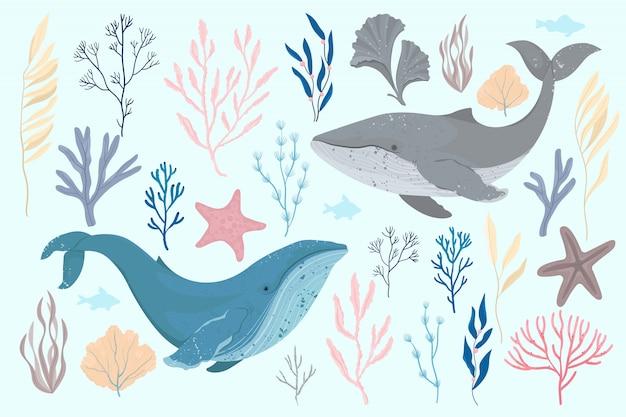 Ilustración de la tarjeta del día mundial de los océanos