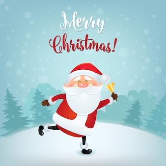 Ilustración de tarjeta de felicitación de feliz navidad