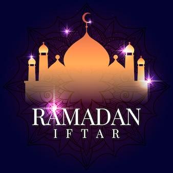Ilustración de tarjeta de ramadán