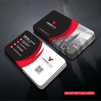 Ilustración de tarjeta de visita de forma roja