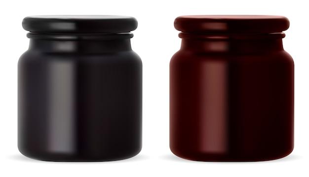 Ilustración de tarro de crema cosmética