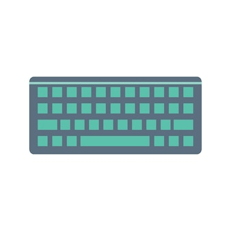 Ilustración del teclado de la computadora