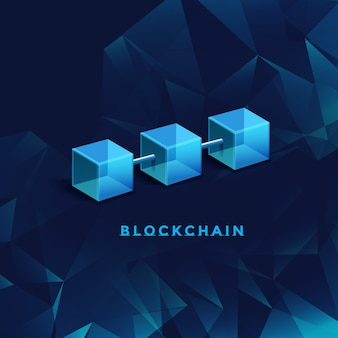 Ilustración de tecnología blockchain
