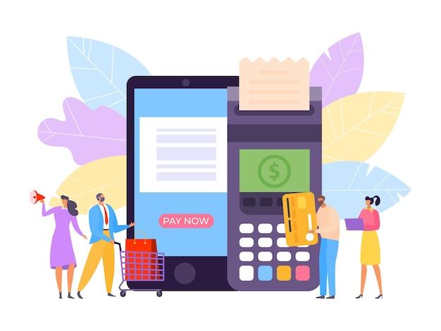 Ilustración de tecnología de crédito financiero