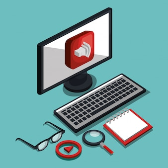 Ilustración de la tecnología moderna
