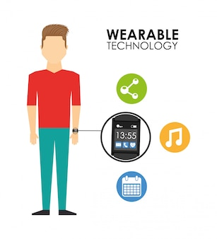 Ilustración de tecnología usable