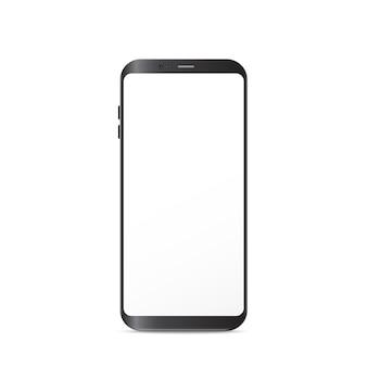 Ilustración de teléfono inteligente de nueva generación aislada sobre fondo blanco.