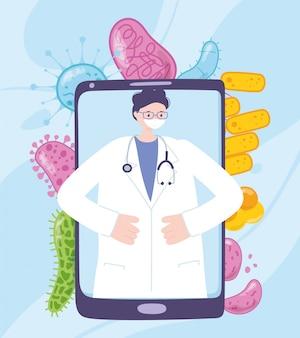 Ilustración de telemedicina
