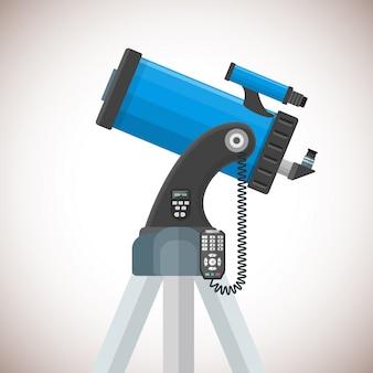 Ilustración de telescopio catadióptrico plano