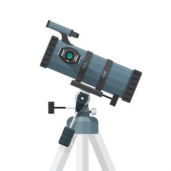 Ilustración de telescopio reflector plano