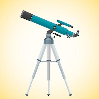 Ilustración de telescopio refractor plano