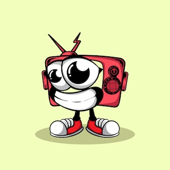 Ilustración de televisión de carácter de doodle