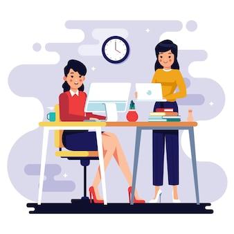 Ilustración con tema de personas de negocios