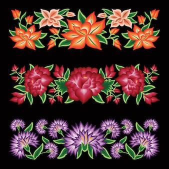 Ilustración de temática floral mexicana