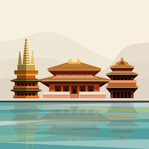 Ilustración del templo de jing'an