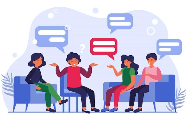 Ilustración de terapia grupal