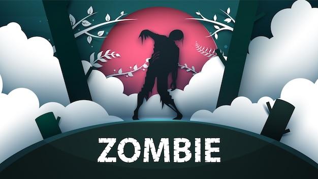 Ilustración de terror zombie.