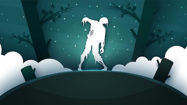 Ilustración de terror zombie