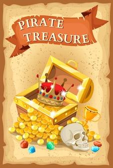 Ilustración del tesoro pirata