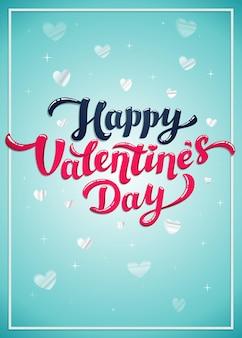 Ilustración de texto de saludo de feliz día de san valentín