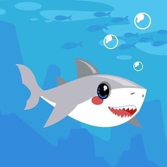Ilustración de tiburón bebé